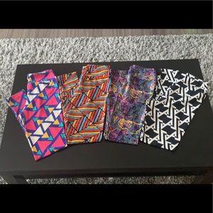LuLaRo tween abstract leggings, NWOT
